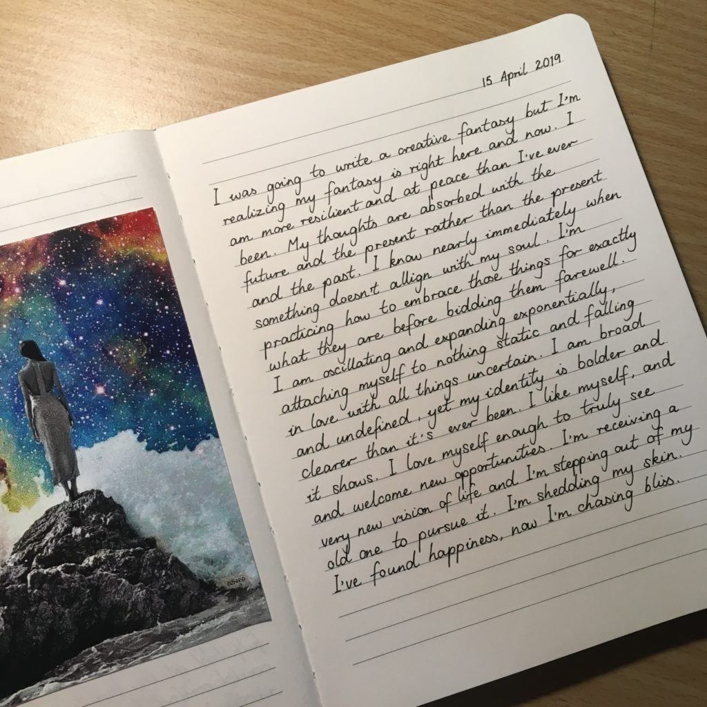 Journal entry written by Communication Fascination's author Holly Pearce, about finding happiness in your own situation and by continuing to leave your comfort zone.